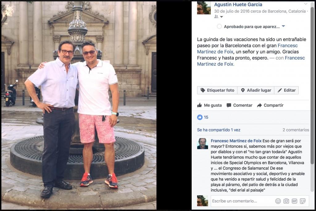 Francesc y yo en Barcelona, verano de 2016