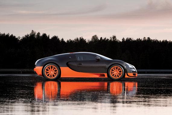 Bugatti Veyron Super Sports Car Side View Blog De Alexgarcia