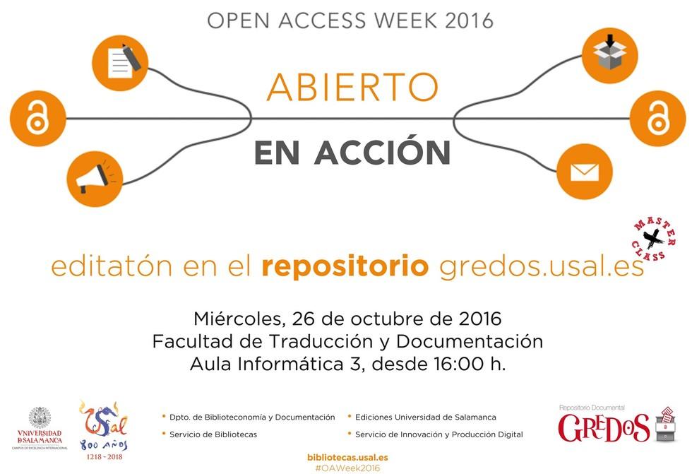 Editatón en el repositorio Gredos