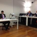 Oscar Rico defendiendo su tesis doctoral.