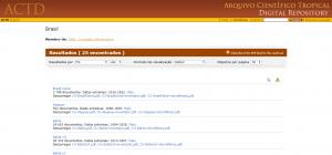 Ejemplo de búsqueda en ACTD