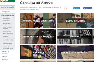 Página Búsqueda del Arquivo Nacional do Brasil