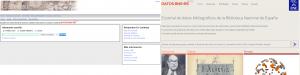 Pantalla de búsqueda de la BNE y de Datos.BNE.es (Beta)