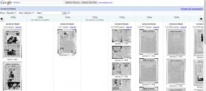 Página de búsqueda del repositorio digital del Jornal do Brasil