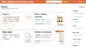 Página principal del Atlas Digital da América Lusa
