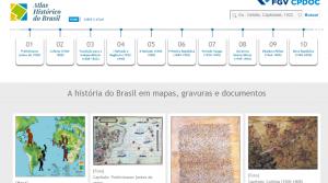 "Página principal ""Atlas Histórico do Brasil"""