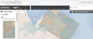 Vista del mapa de Río de Janeiro