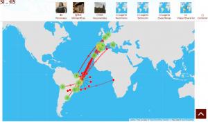 Imagen 1. Mapa de itinerarios