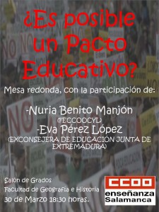 Cartel Pacto Educativo