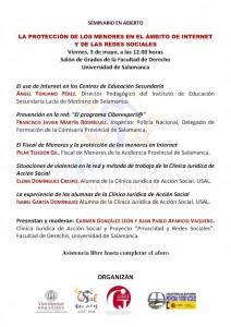 Seminario abierto: La protección de los menores en el ámbito de Internet y de las redes sociales