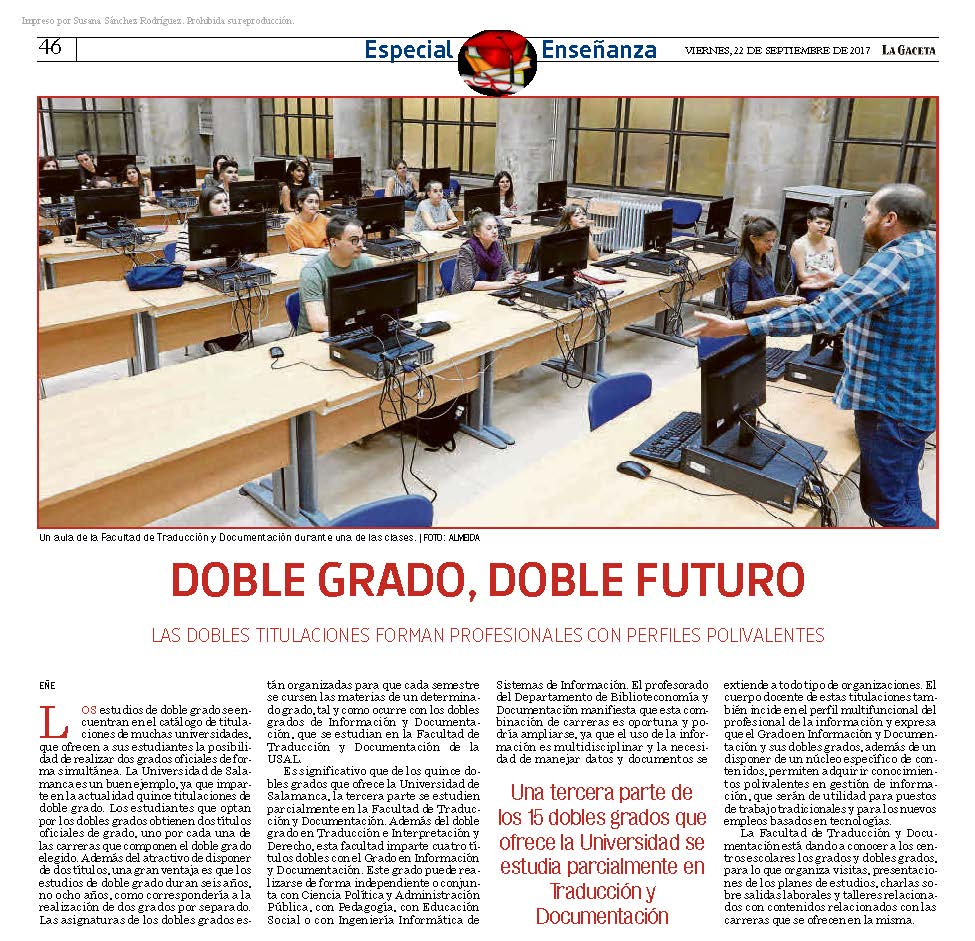 Noticia Dobles grados