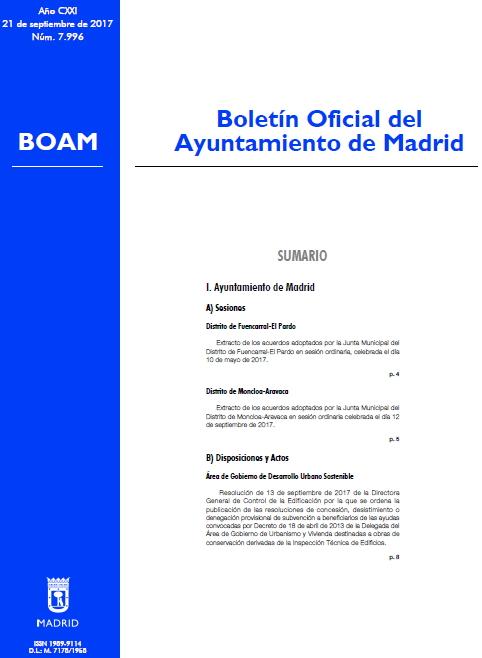 El Boletín Oficial del Ayuntamiento de Madrid del 21 de septiembre de 2017 ha publicado la convocatoria de 4 becas de investigación: 2 para bibliotecas públicas y 2 para el Archivo de la Villa. Las becas contemplan la participación de tituladas/os en Información y Documentación.