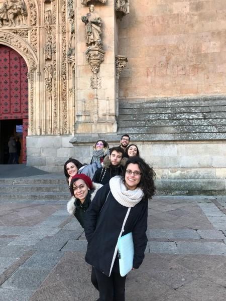 """Durante el mes de noviembre los estudiantes de la asignatura """"Metadatos y Descripción de Archivos"""", que imparte el profesor Héctor Sevillano, ha visitado diferentes archivos de la ciudad de Salamanca."""