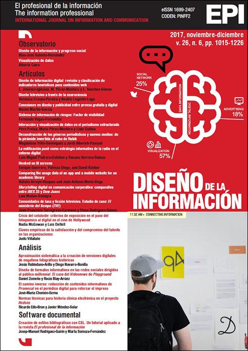 """La revista El profesional de la Información ha publicado en inglés y español el artículo """"Comparación de los datos de uso de la app y el sitio web móvil de una biblioteca universitaria"""", en el que se estudia la app BiblioUSAL de las bibliotecas de la Universidad de Salamanca."""