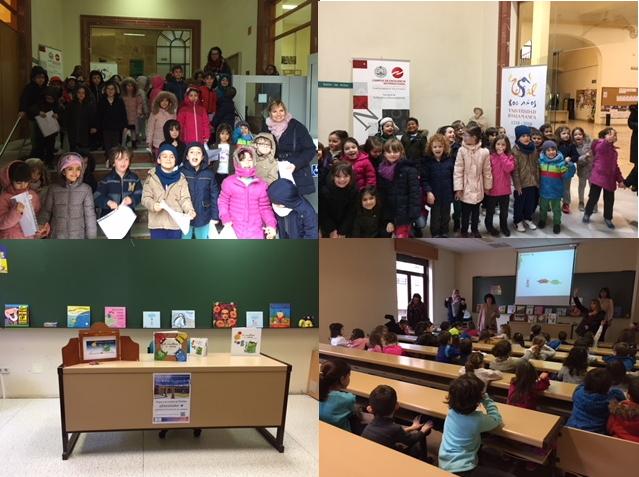 El viernes 9 de marzo de 2018 recibimos en la Facultad de Traducción y Documentación unos invitados muy especiales. Cincuenta niños y niñas de infantil del Colegio Santa Catalina, que dentro de la celebración que están haciendo en el colegio de los 800 años de nuestra universidad.