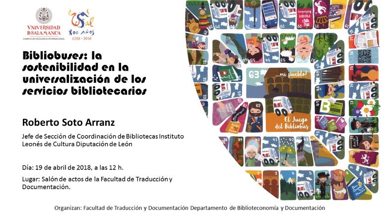 """El jueves 19 de abril a las 12 horas tendrá lugar la conferencia titulada """"Bibliobuses: las sostenibilidad en la universalización de los servicios bibliotecarios"""". Esta conferencia será impartida por Roberto Soto Arranz, uno de los mayores especialistas sobre la materia de nuestro país."""