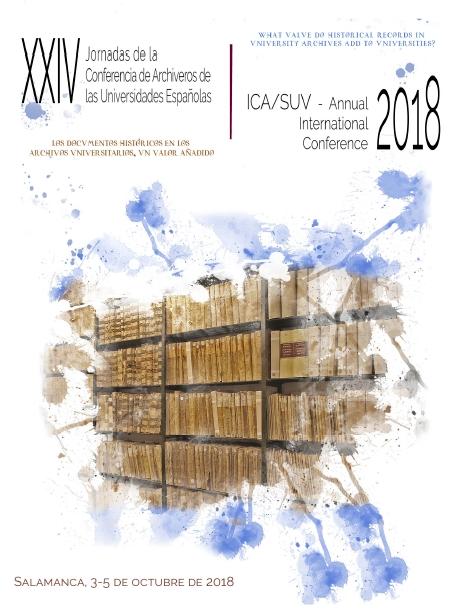 La Universidad de Salamanca organiza el Congreso Internacional 2018 de la Sección de Archivos de Universidades del Consejo internacional de Archivos (ICA/SUV), que se celebran de forma conjunta con las XXIV Jornadas de la Conferencia de Archiveros de las Universidades Españolas (CAU).  Las jornadas cuentan con la colaboración del Departamento de Biblioteconomía y Documentación.