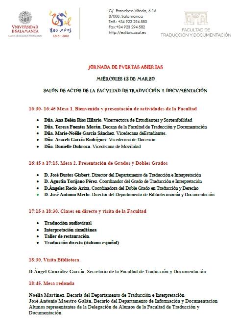 Jornada Puertas Abiertas 2019