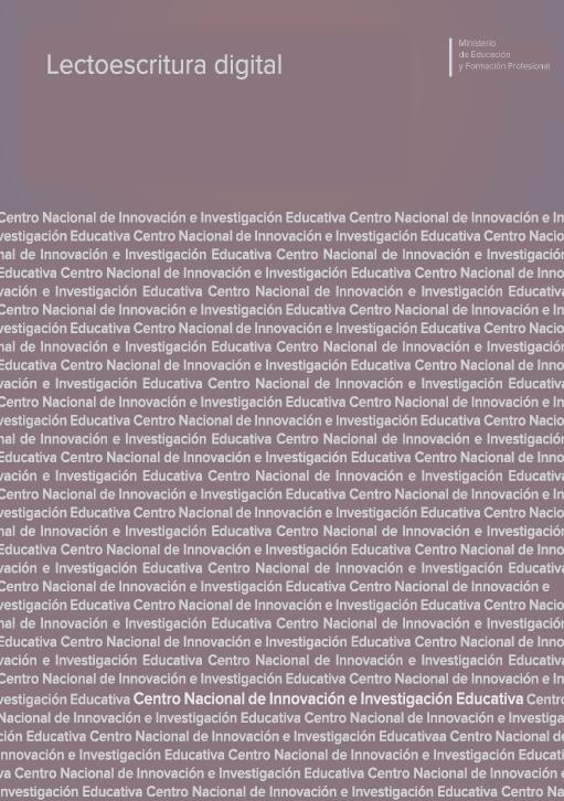 El Centro Nacional de Innovación e Investigación Educativa, dependiente del Ministerio de Educación y Formación Profesional, ha publicado la monografía Lectoescritura digital, en la que participan docentes del Departamento de Biblioteconomía y Documentación de la Universidad de Salamanca.