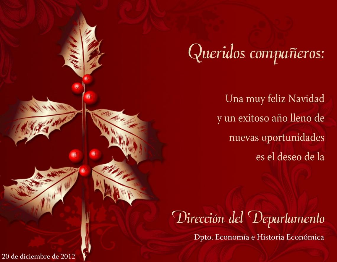Felices Fiestas Y Pr 243 Spero A 241 O Nuevo 2013 Departamento