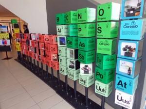 Tabla periódica con cajas
