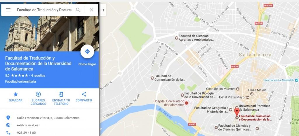 Facultad de Traducción y Documentación. Universidad de Salamanca.