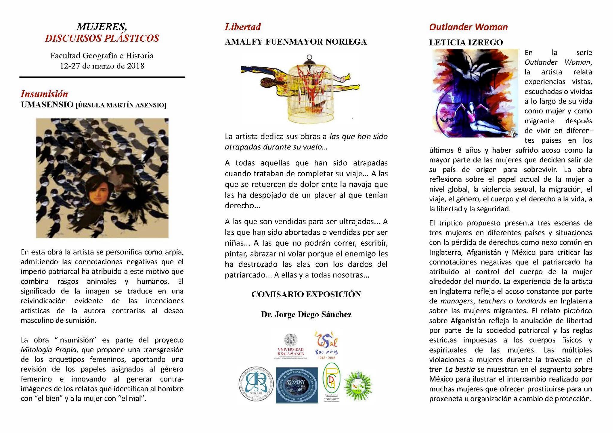 "Exposición ""Mujeres. Discursos Plásticos"". (Facultad Geografía e ..."