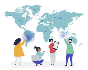 El mundo colaborando