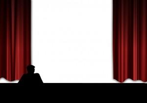 Entre bambalinas en un teatro