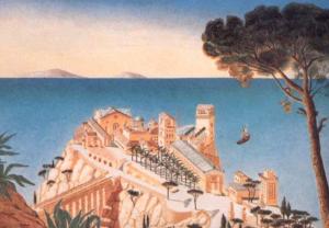 Propuesta para la Villa Laurentina sobre un acantilado, de Krier