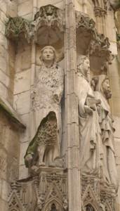 Buenas mujeres. Catedral de Rouen.