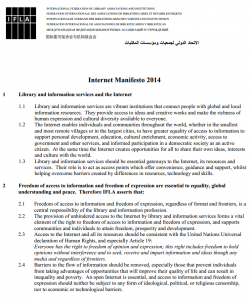 Manifiesto IFLA 2014