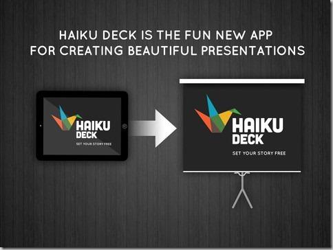 Otra forma de realizar presentaciones con la aplicación HaikuDeck