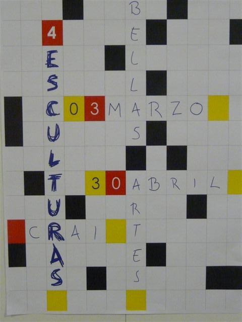 Cartel de la exposición del grupo 4esculturas