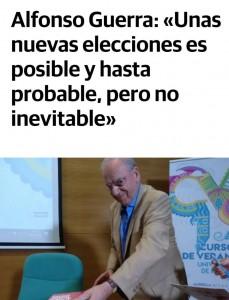 Unas nuevas elecciones es posible