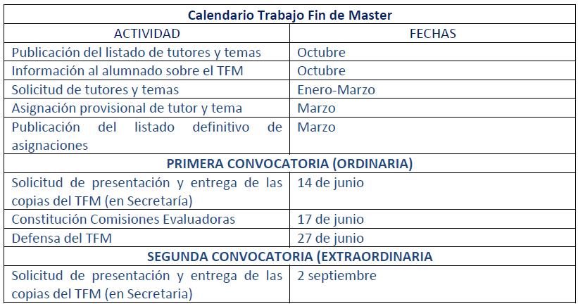 calendario master