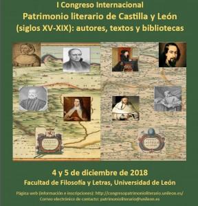 cartel congreso patrimonio literario