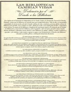 Declaración por el Derecho a las Bibliotecas