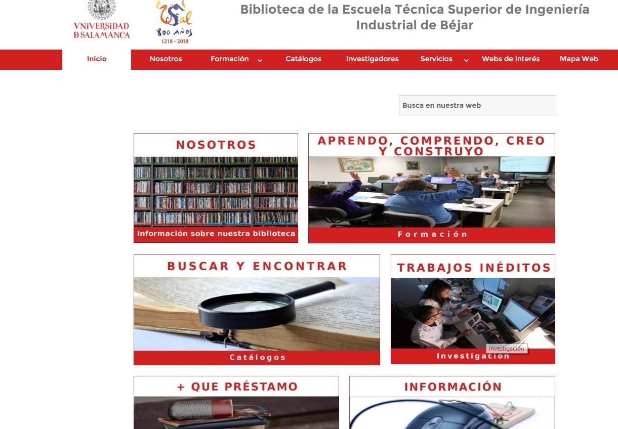 WEB Biblioteca ETSII Béjar