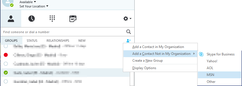 How to add Skype users to Skype for Business | Pablo