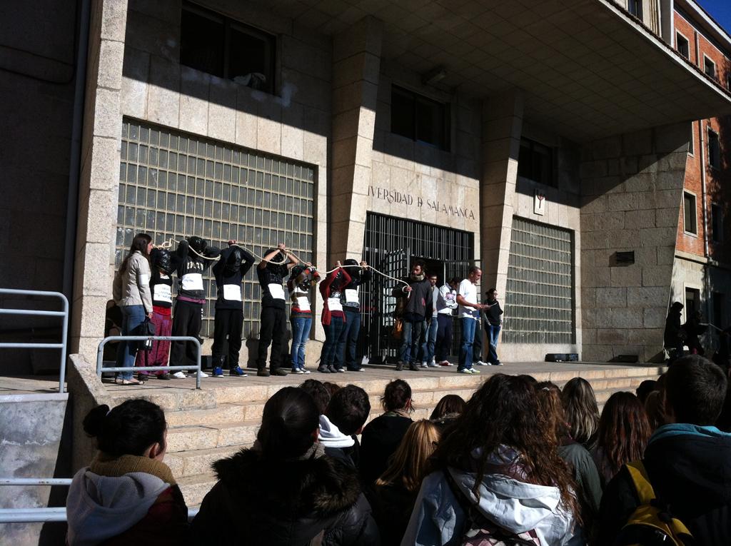 Concentración en el campus Ciudad Jardin
