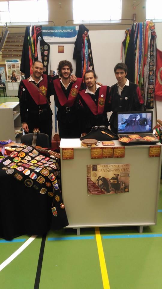 Tuna Universitaria de Salamanca en la Feria de Bienvenida, curso 2017/2018